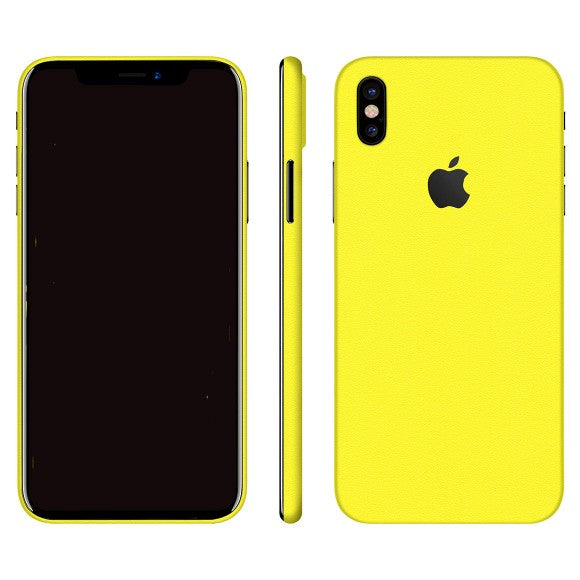 iPhone X GLOSS Geel Skin