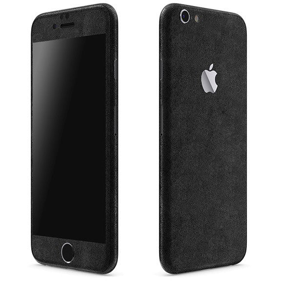 iPhone 6S Plus LEATHER Black Skin