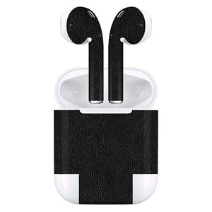 AirPods LEATHER Black Skin
