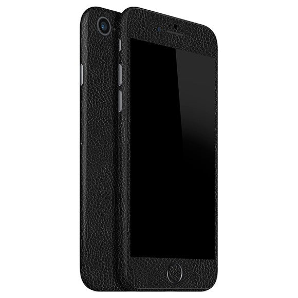 iPhone 7 LEATHER Black Skin