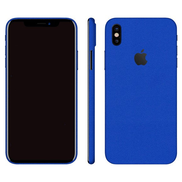 iPhone X MATT Blue Skin