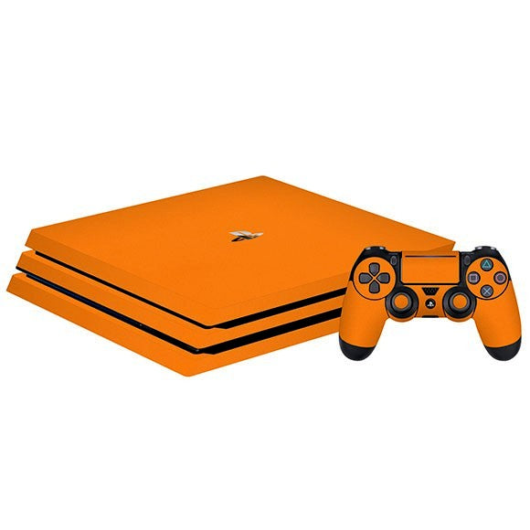 PlayStation 4 Pro MATT Orange Skin
