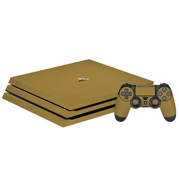 PlayStation 4 Pro STEEL Gold Skin