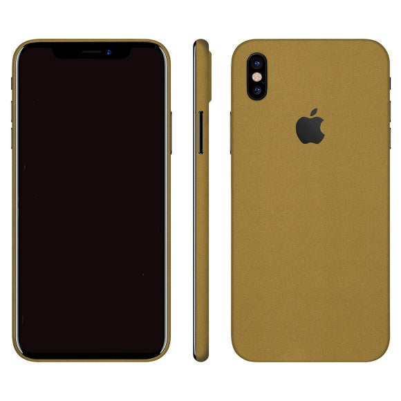 iPhone X STEEL Gold Skin