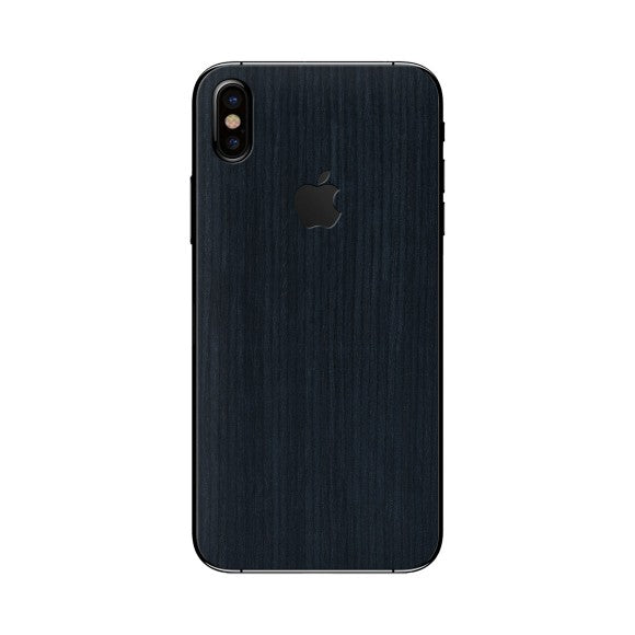 iPhone X WOOD Cedar Swart vel
