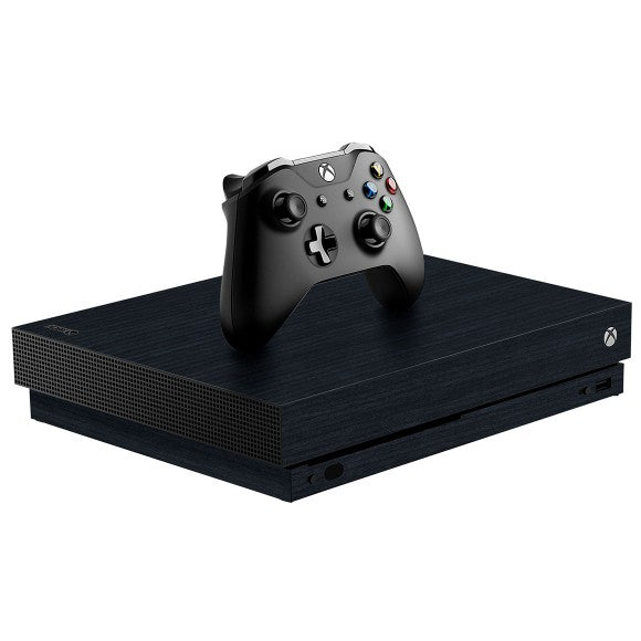 Xbox One X WOOD Cedar Black Skin