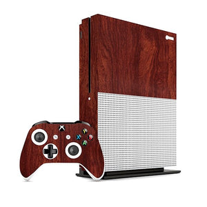Xbox One S. WOOD Mahogany Skin