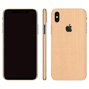 iPhone X WOOD Maple Skin