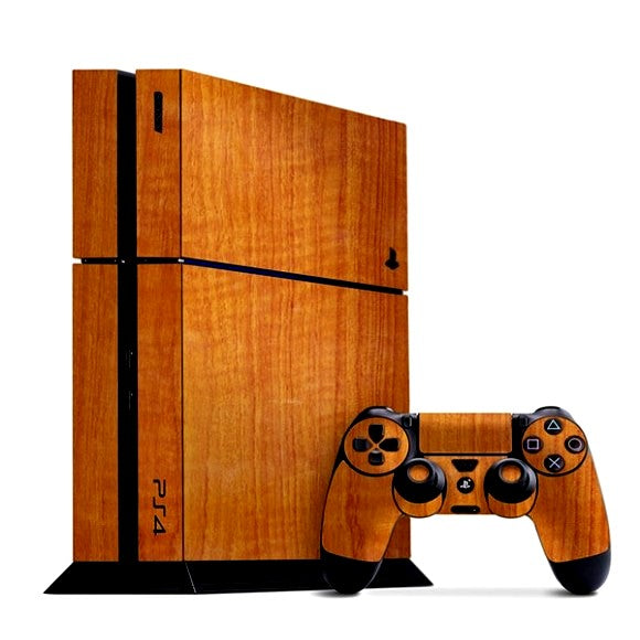PlayStation 4 WOOD Teak Skin