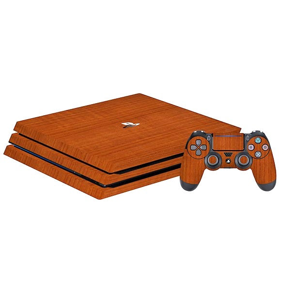PlayStation 4 Slim WOOD Teak Skin