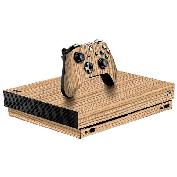 Xbox One X WOOD Zebra Skin