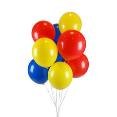 "11"" Block Coloured Balloon Pack"