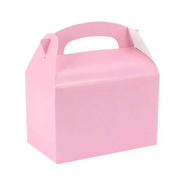 8 Baby Pink Party Lunch Boxes