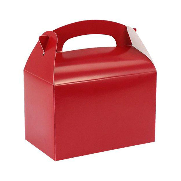 8 Red Party Lunch Boxes