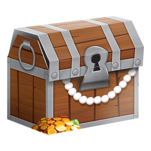 8 Pirate Treasure Favour Boxes - 8.3cm Treasure Chests