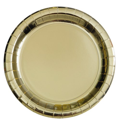 Gold chrome 23cm Paper Plates