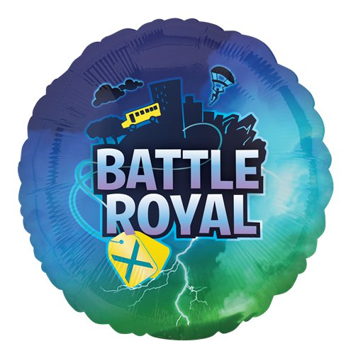 "18"" Fortnite Battle Royal Round Foil Balloon"