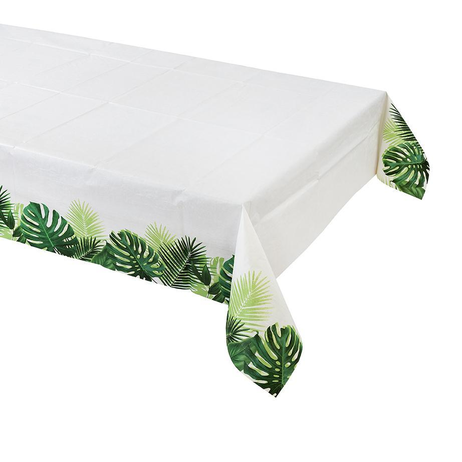 Tropical Palm Leaf Table Cover