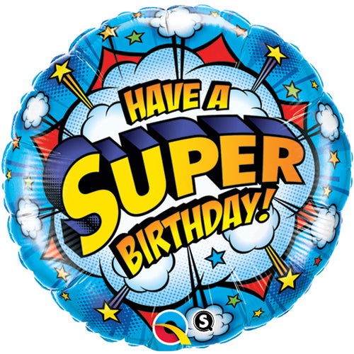 'Have a super birthday' foil balloon