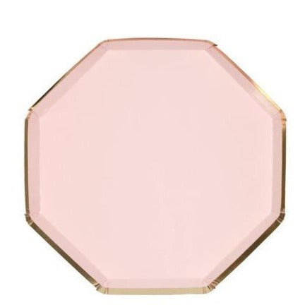 Pale pink side plates