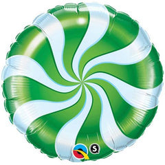 Green Swirl Candy Foil Balloon