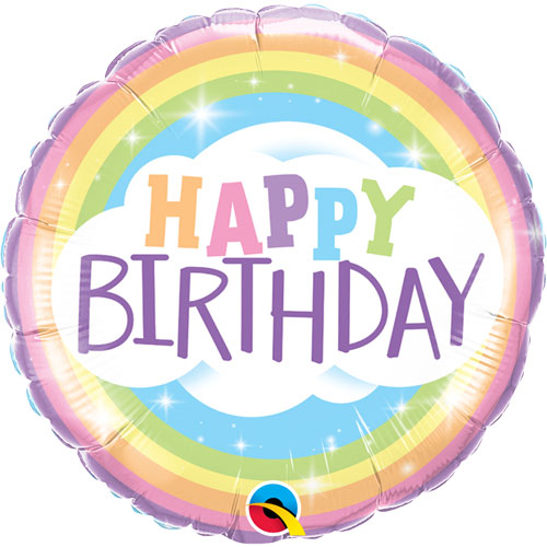 Rainbow 'Happy Birthday' Balloon