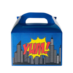 Blue Superhero lunch boxes