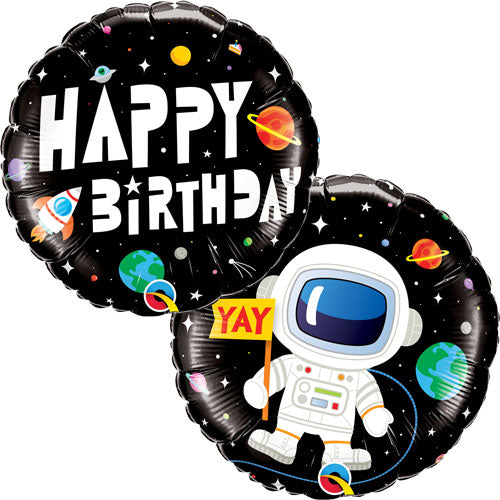 Space Happy Birthday Ballon