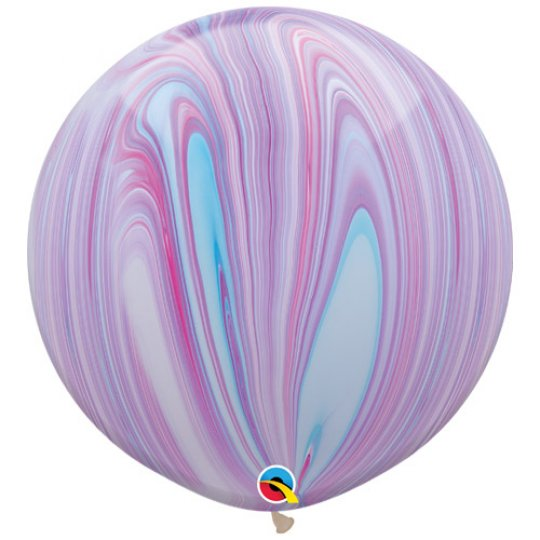 Pastel SuperAgate Marble Balloons 30""