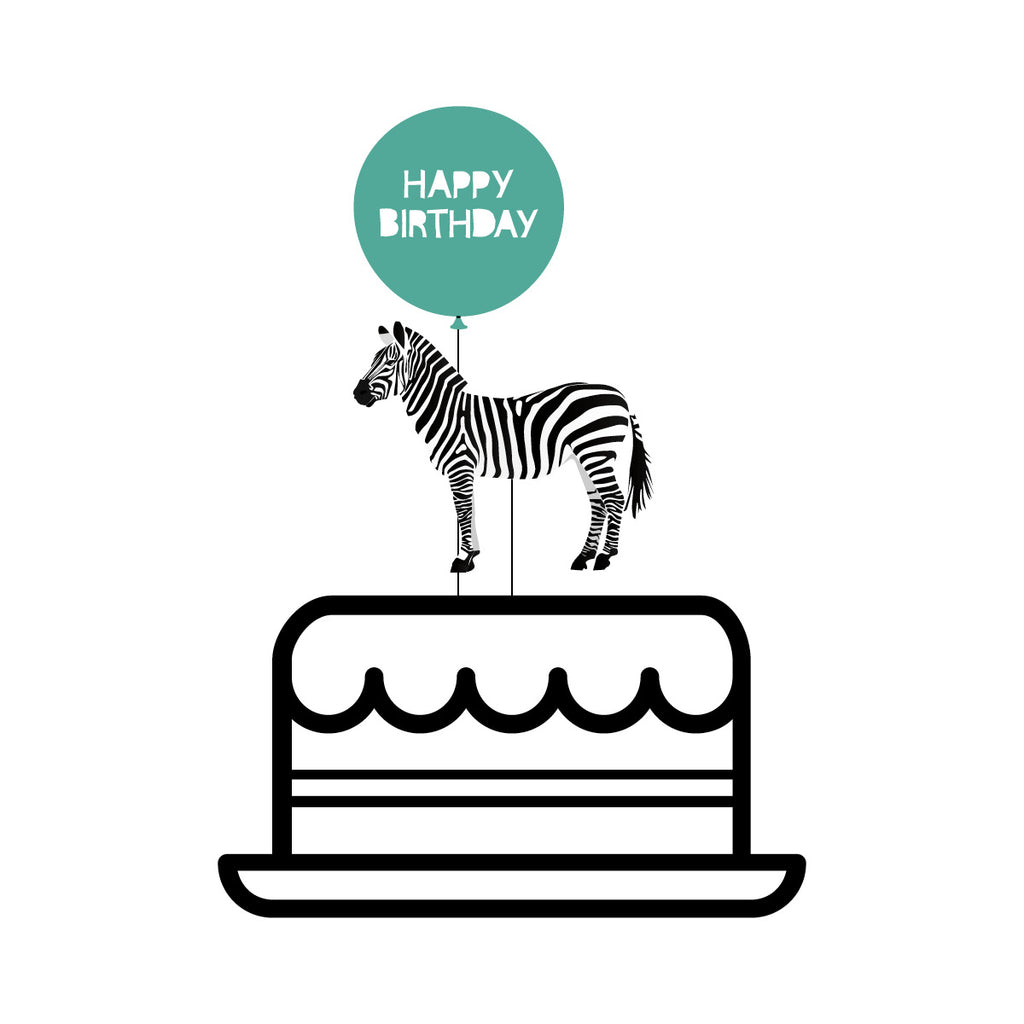 Party Animal Zebra Cake Topper