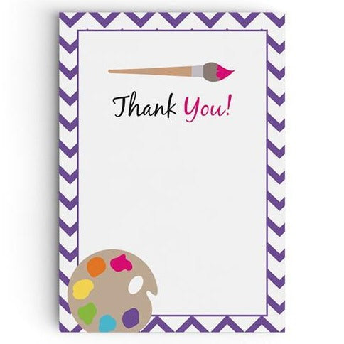 Arty Party Thank You Cards