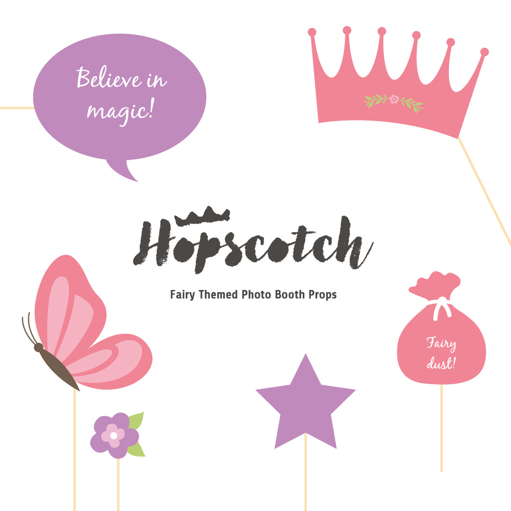 Fairy Party Photobooth Props - Downloadable PDF