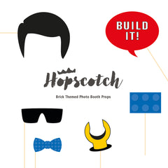 Brick Photobooth Props - Downloadable PDF