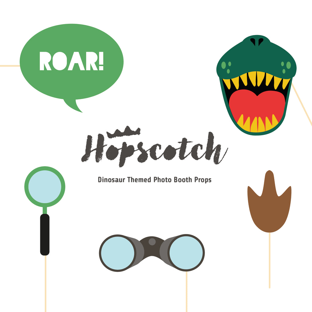 Downloadable Dinosaur Photo Booth Props