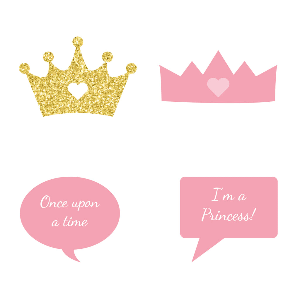 Princess Photo Booth Props -Downloadable PDF