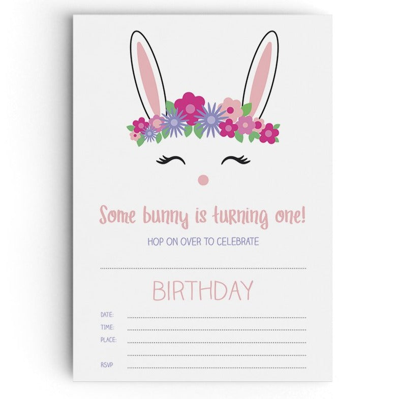 Bunny Party Invitations