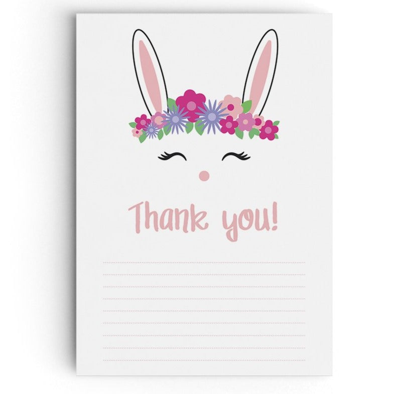 Bunny themed thank you cards