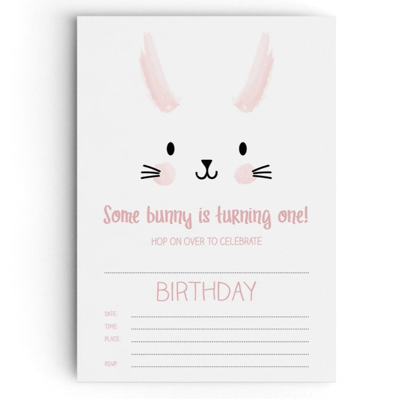 Bunny themed Party Invitations