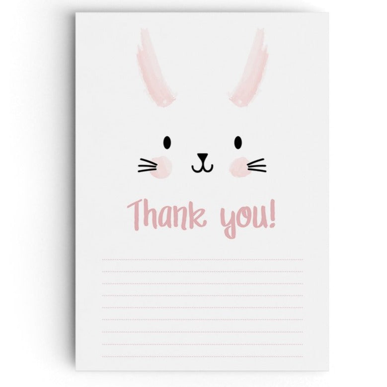 Bunny themed thank you cards.