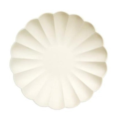 Cream simple eco side plates
