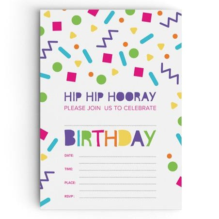 Confetti Birthday Party Invitation