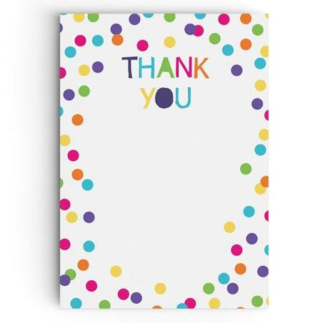 Colourful Confetti Thank You Cards