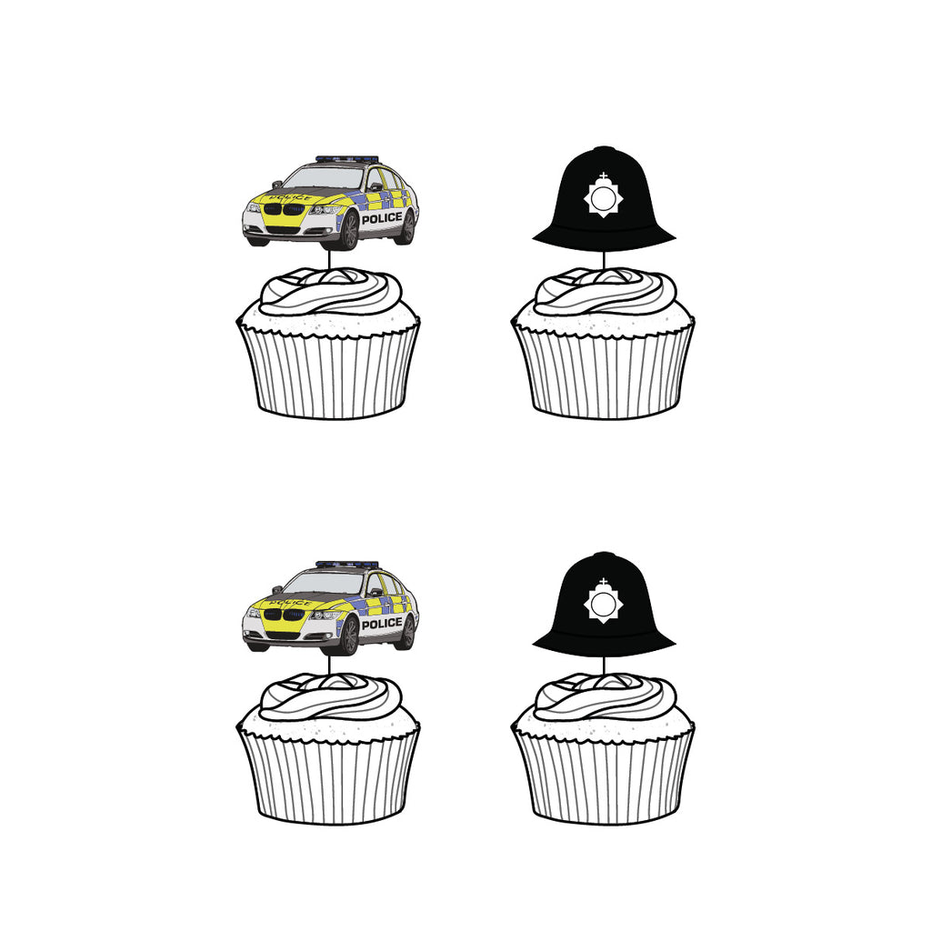 Police Cupcake Toppers