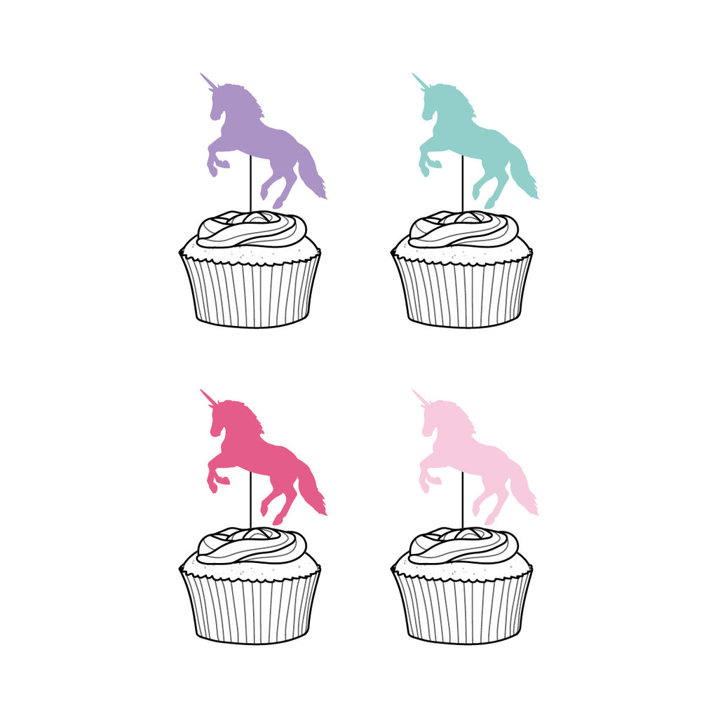 Colourful Unicorn Cupcake Toppers