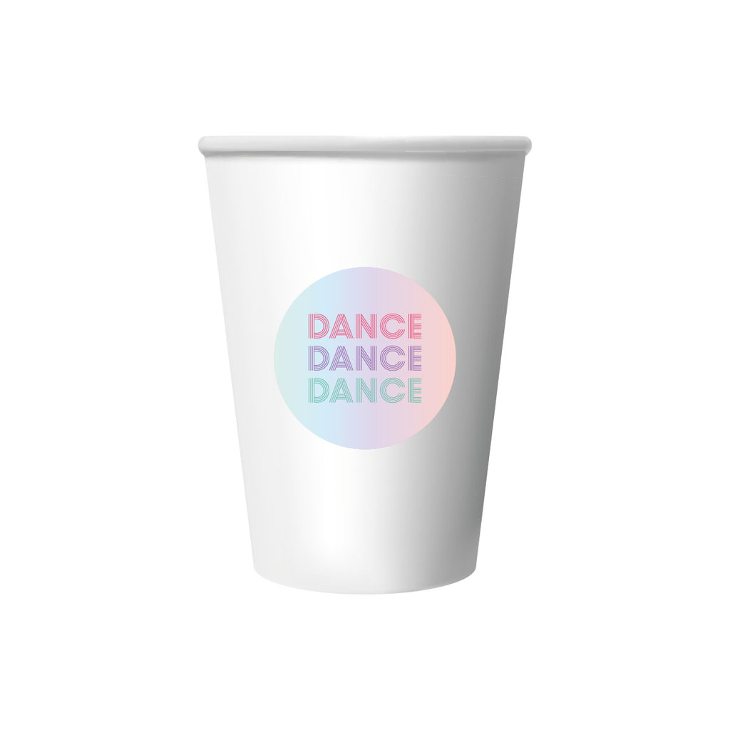 Disco Themed Cup Stickers