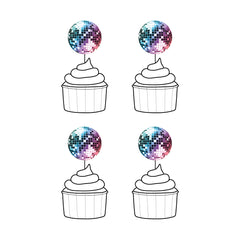 Disco Ball Cupcake Toppers