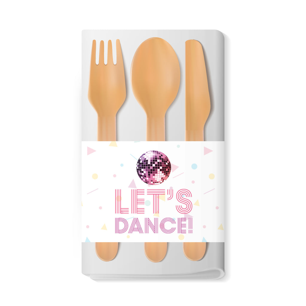 Disco Themed Napkin Wraps