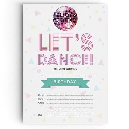 Disco Party Invitations