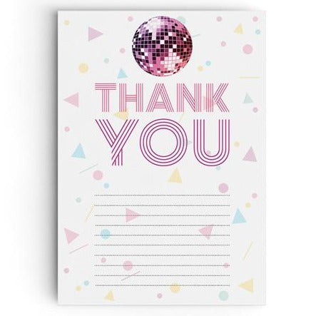 Disco Party Thank You Cards