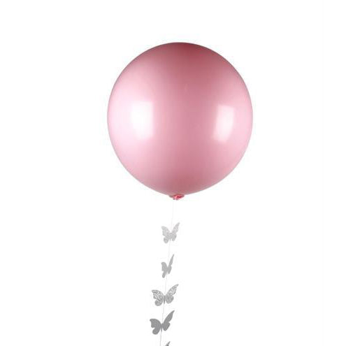 "Pink and white 30"" latex balloon pack"